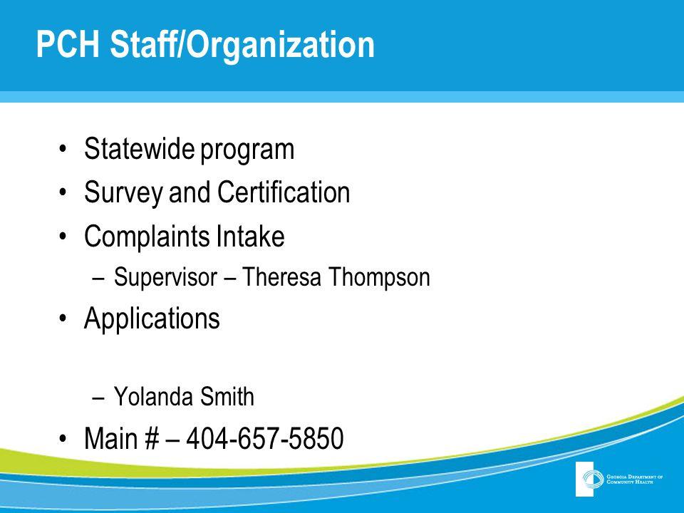 PCH Staff/Organization