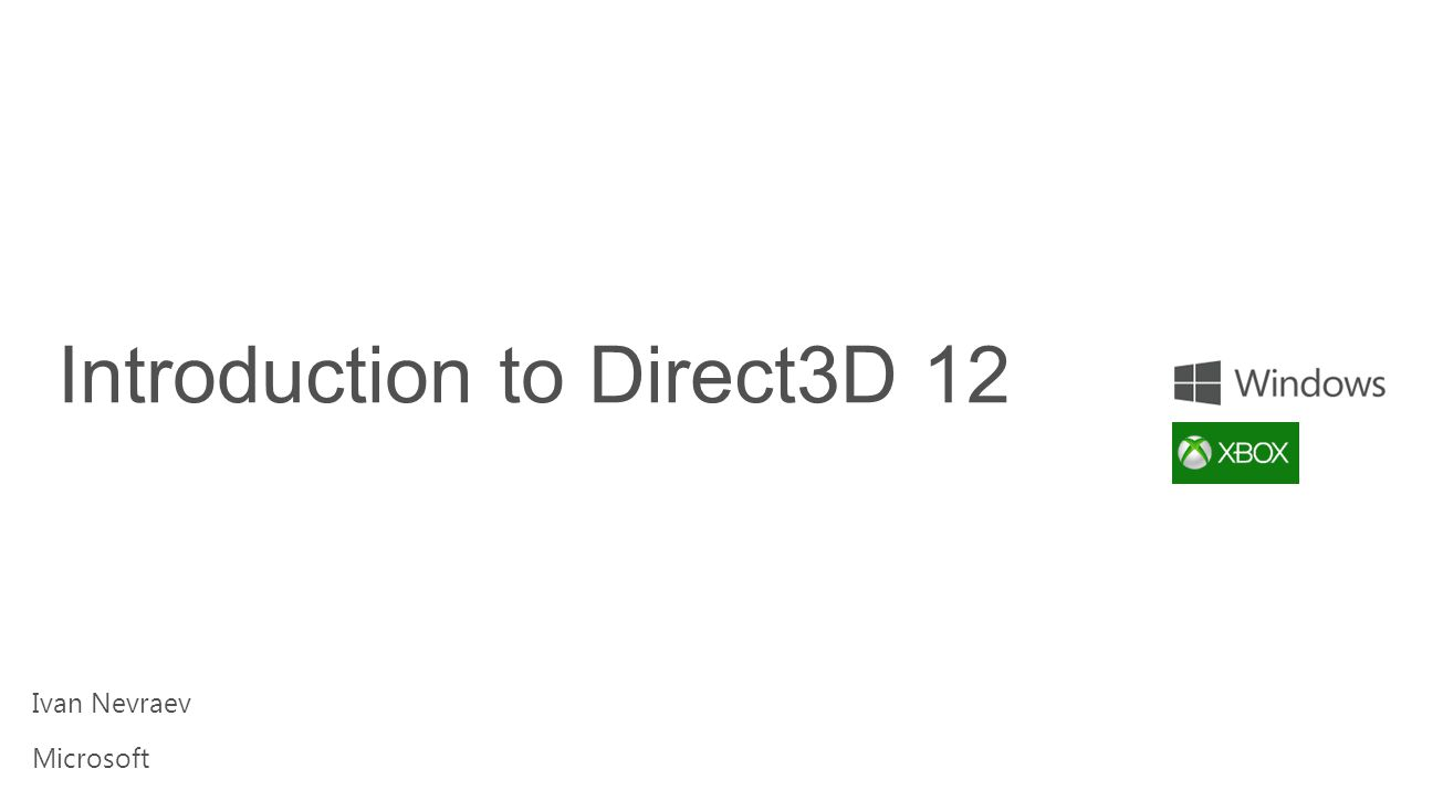 Introduction to Direct3D 12