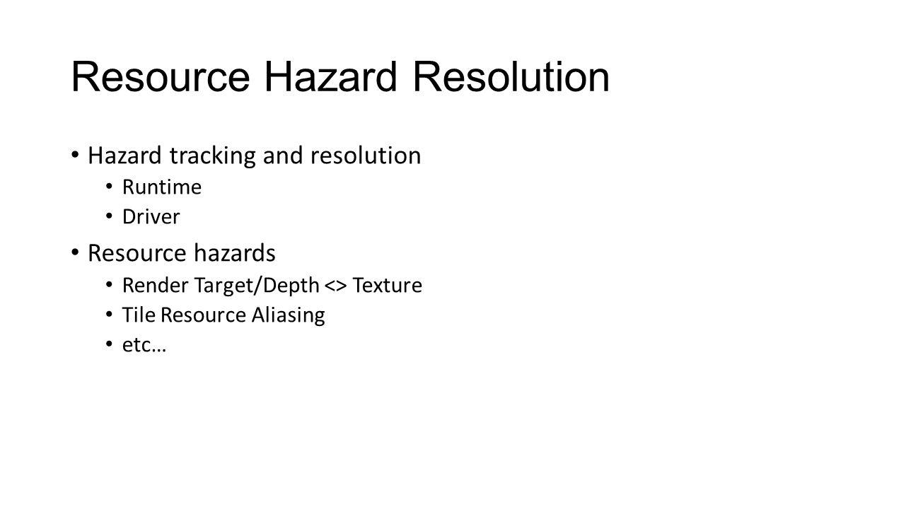 Resource Hazard Resolution
