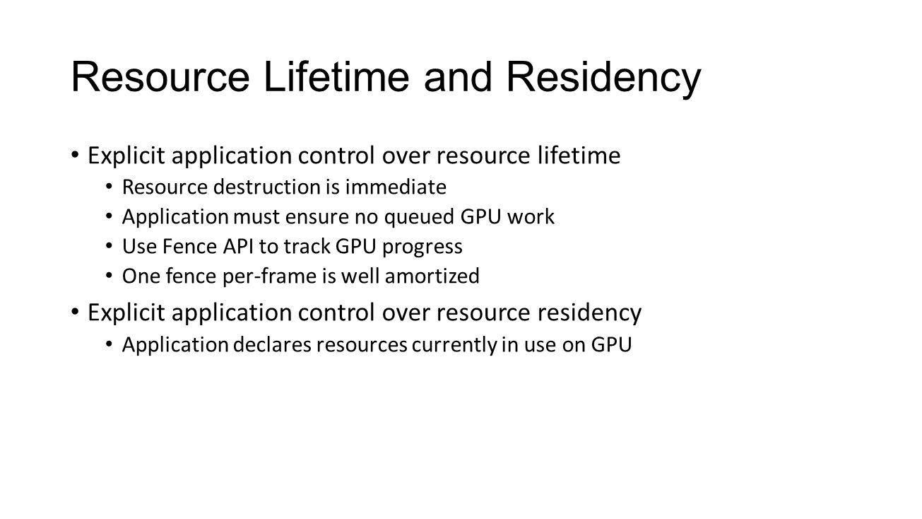 Resource Lifetime and Residency