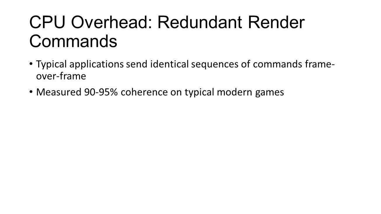 CPU Overhead: Redundant Render Commands