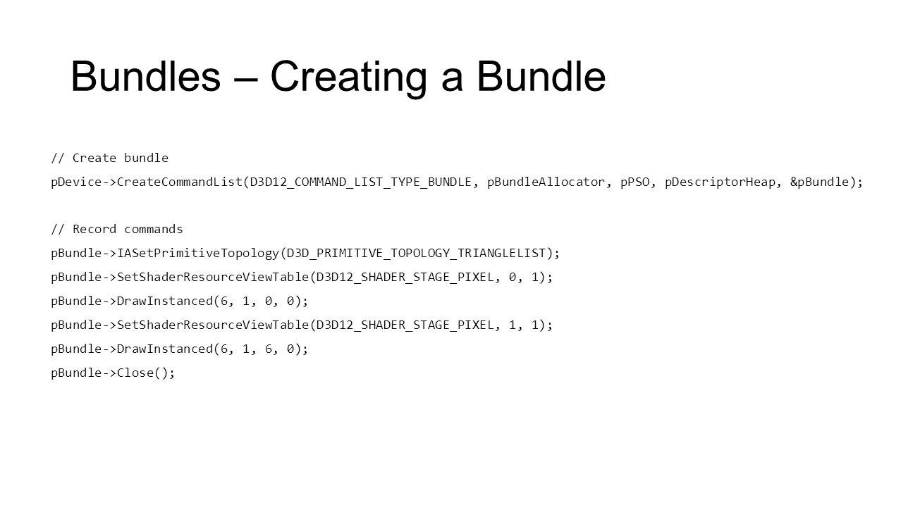 Bundles – Creating a Bundle