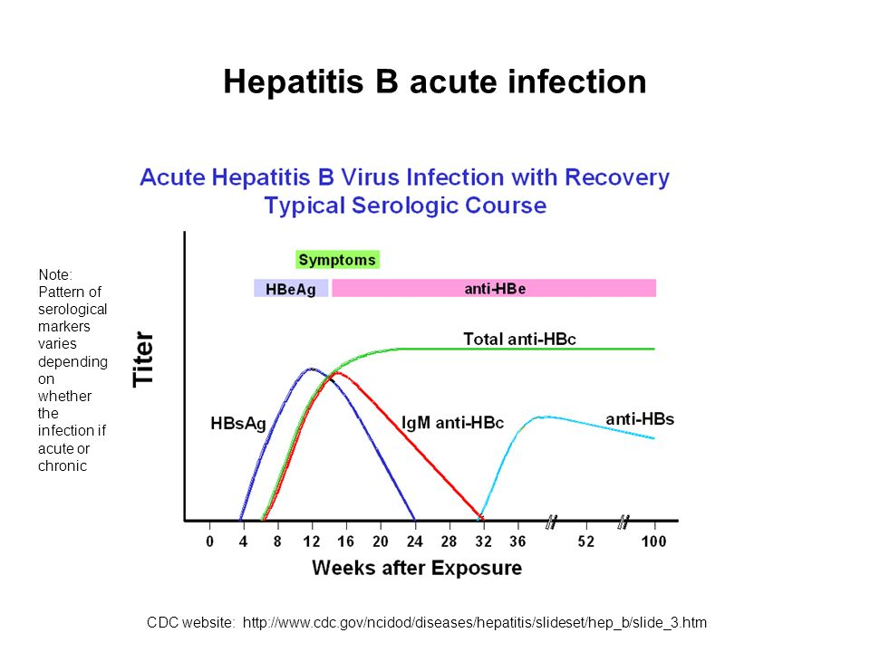 Hepatitis B acute infection