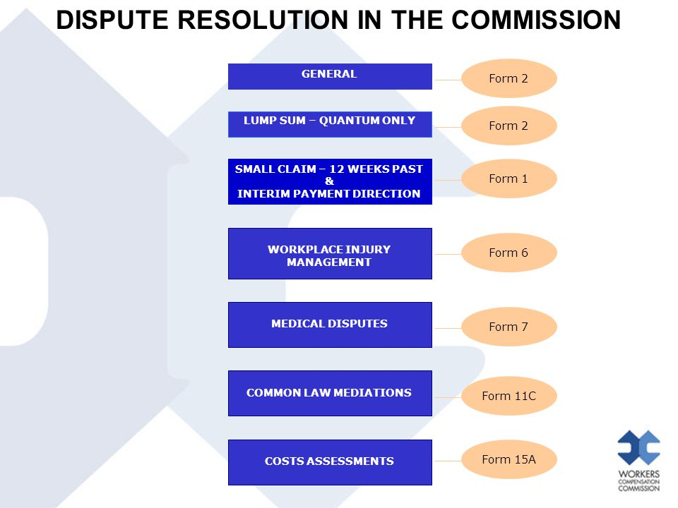 DISPUTE RESOLUTION IN THE COMMISSION