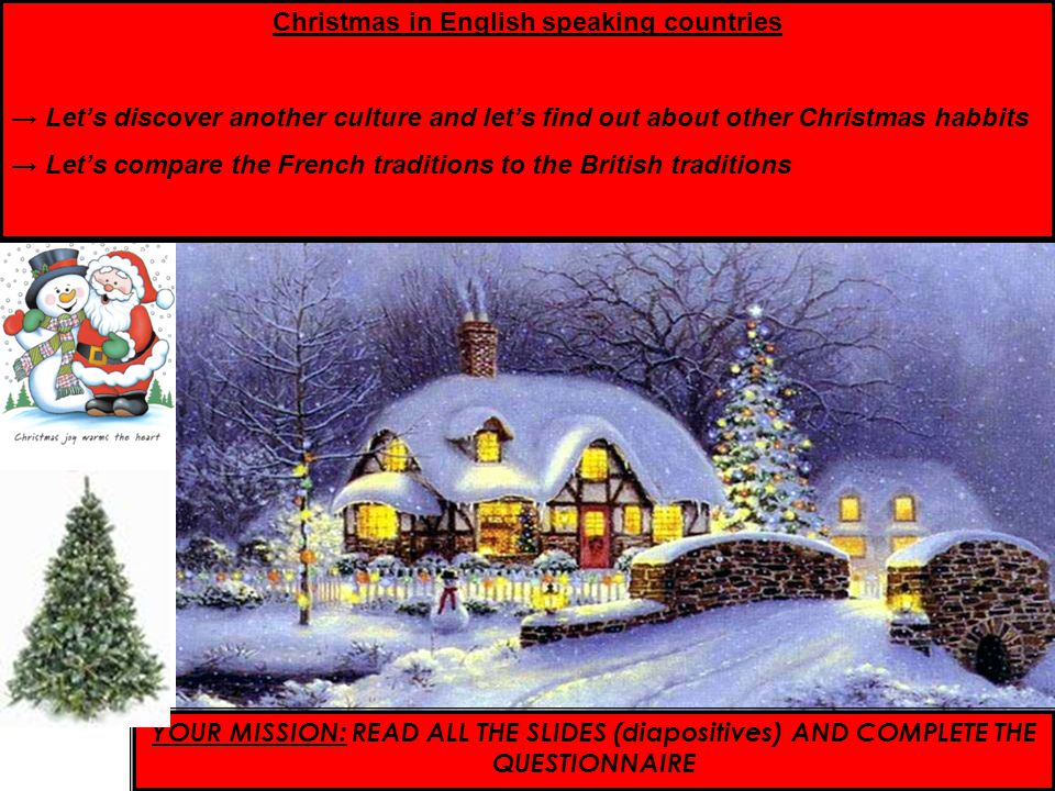 Christmas in English speaking countries