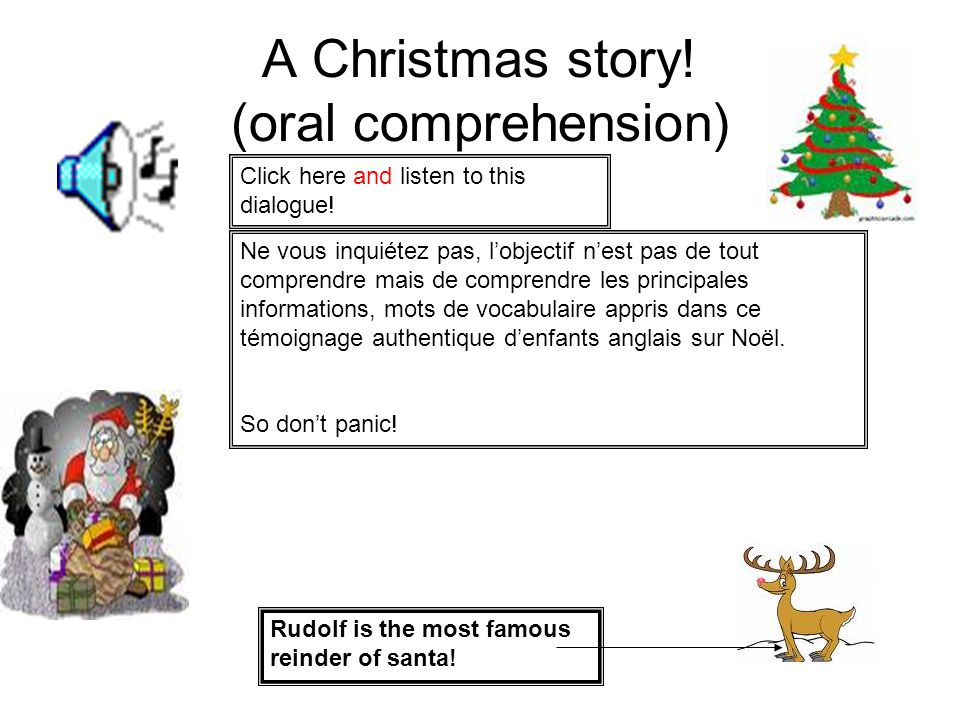 A Christmas story! (oral comprehension)