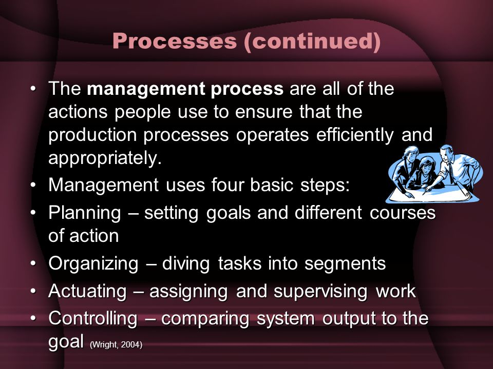 Processes (continued)
