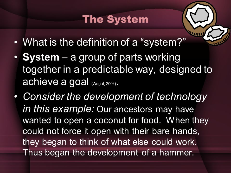 The System What is the definition of a system