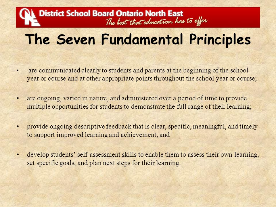 The Seven Fundamental Principles