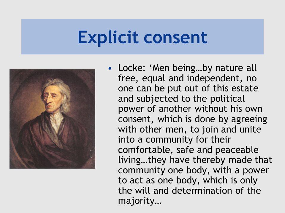 Explicit consent