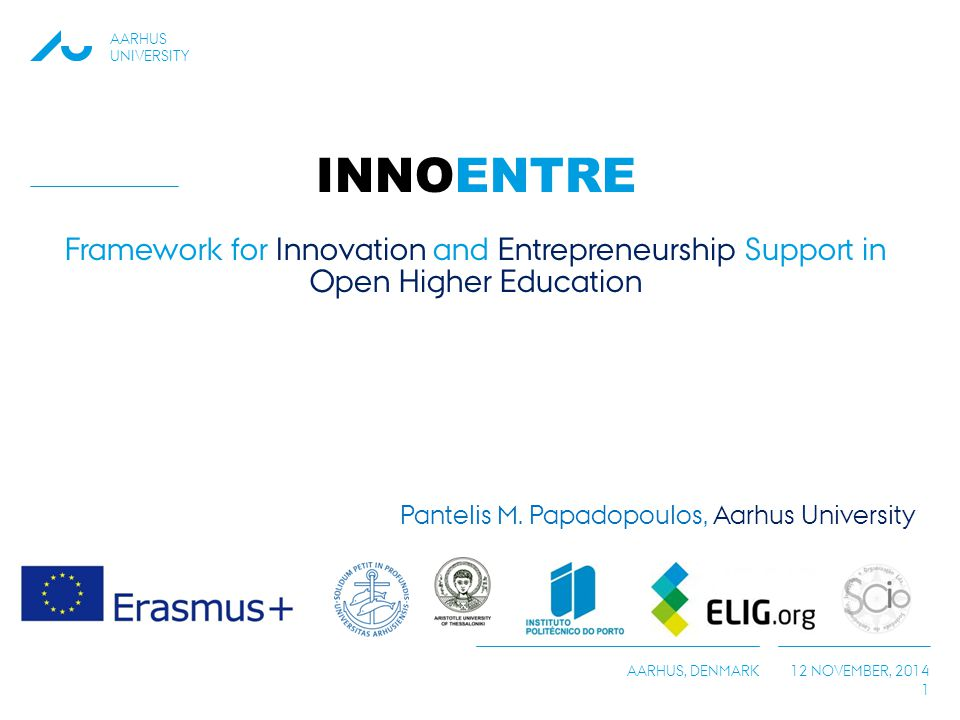 INNOENTRE Framework for Innovation and Entrepreneurship Support in Open Higher Education
