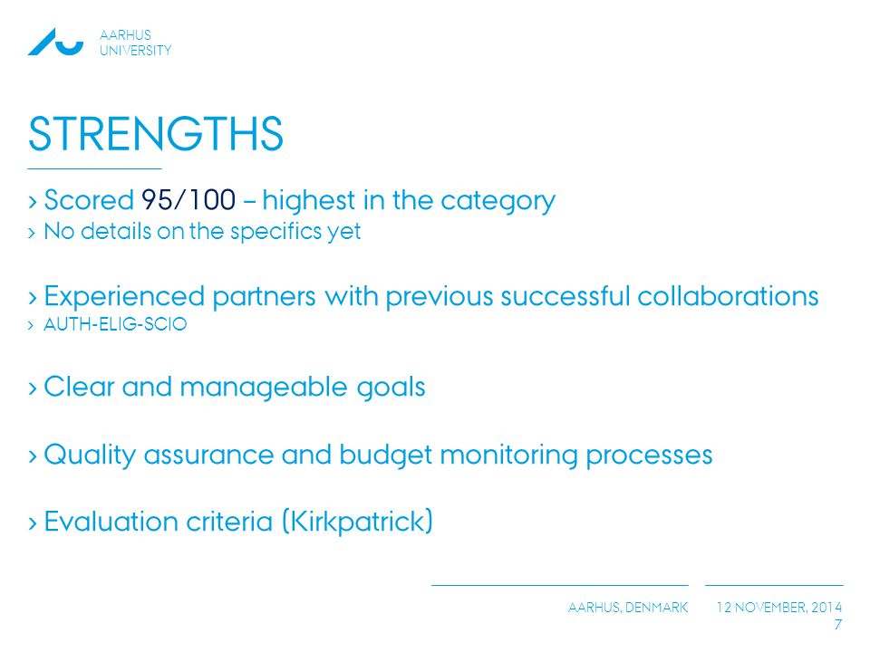Strengths Scored 95/100 – highest in the category