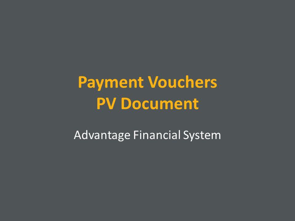 Payment Vouchers PV Document