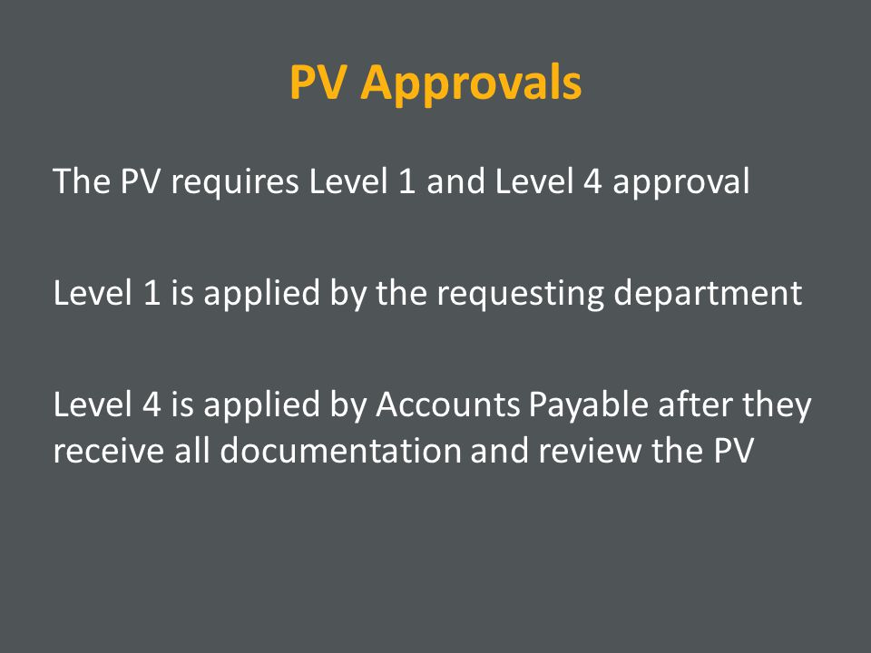 PV Approvals