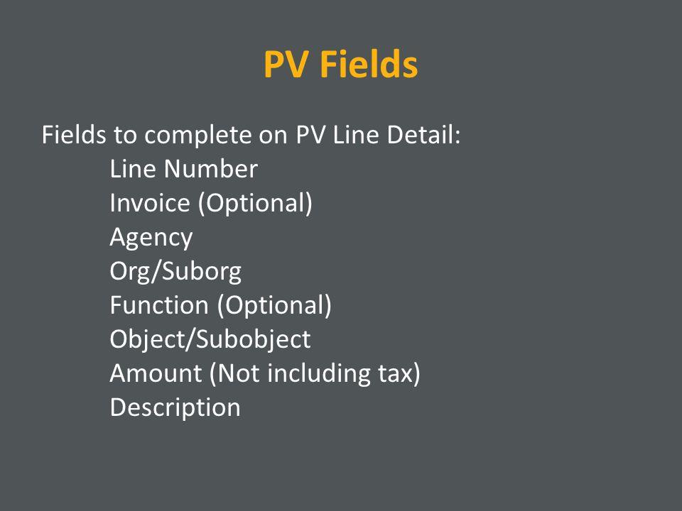 PV Fields