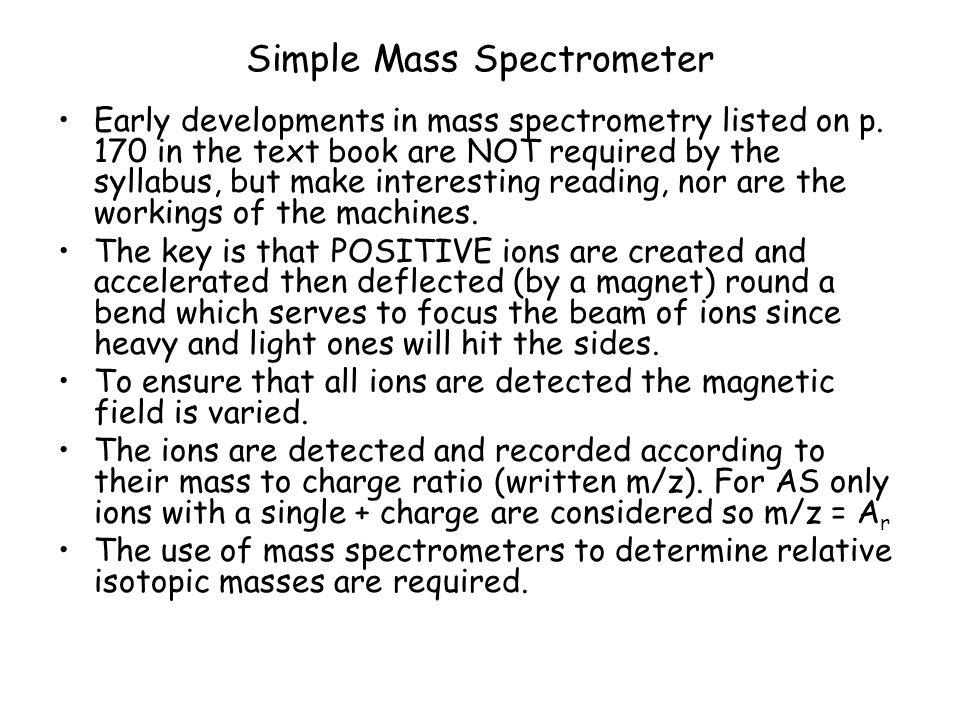 Simple Mass Spectrometer