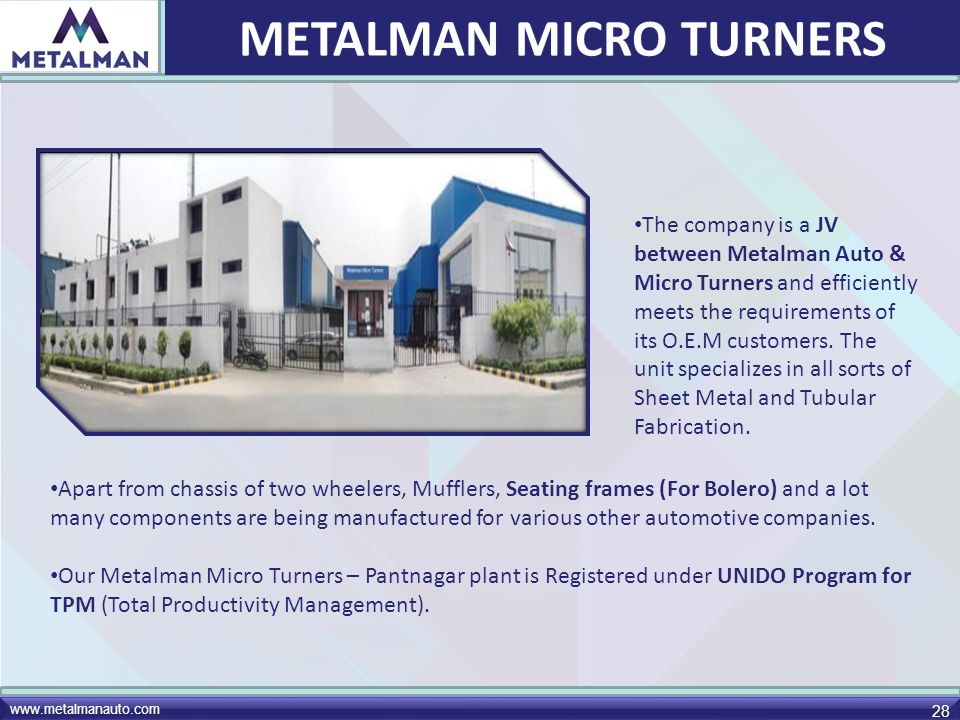 METALMAN MICRO TURNERS