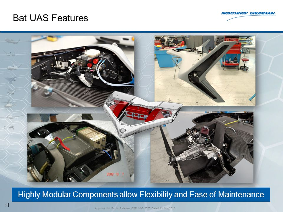 Bat UAS Features Highly Modular Components allow Flexibility and Ease of Maintenance.