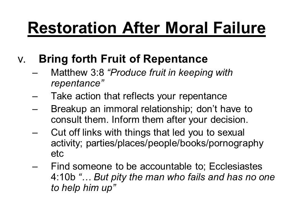Restoration After Moral Failure