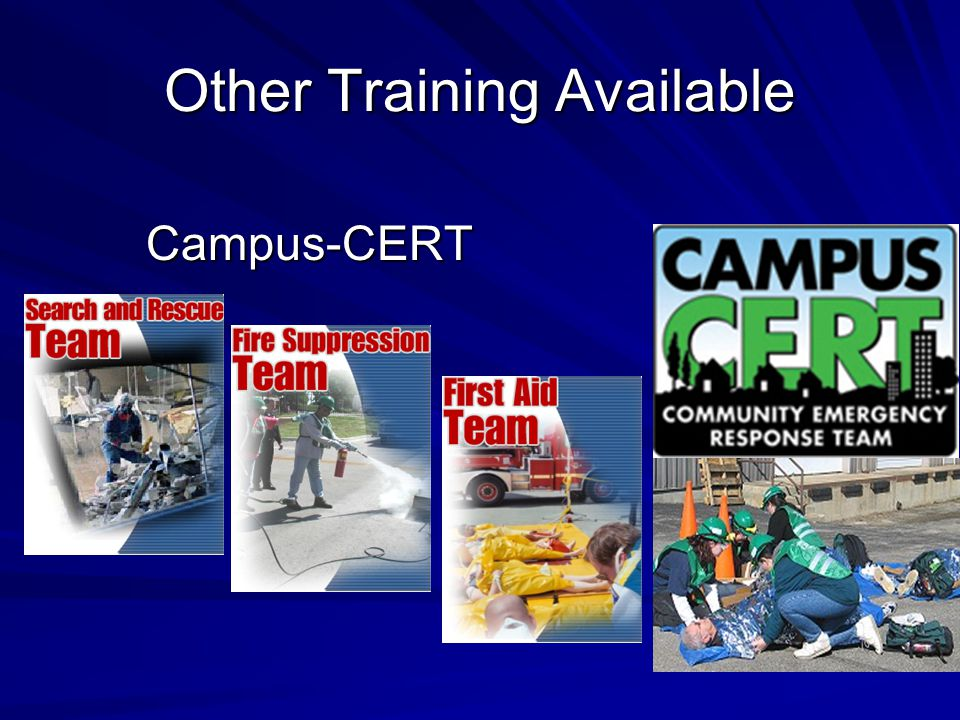 Other Training Available