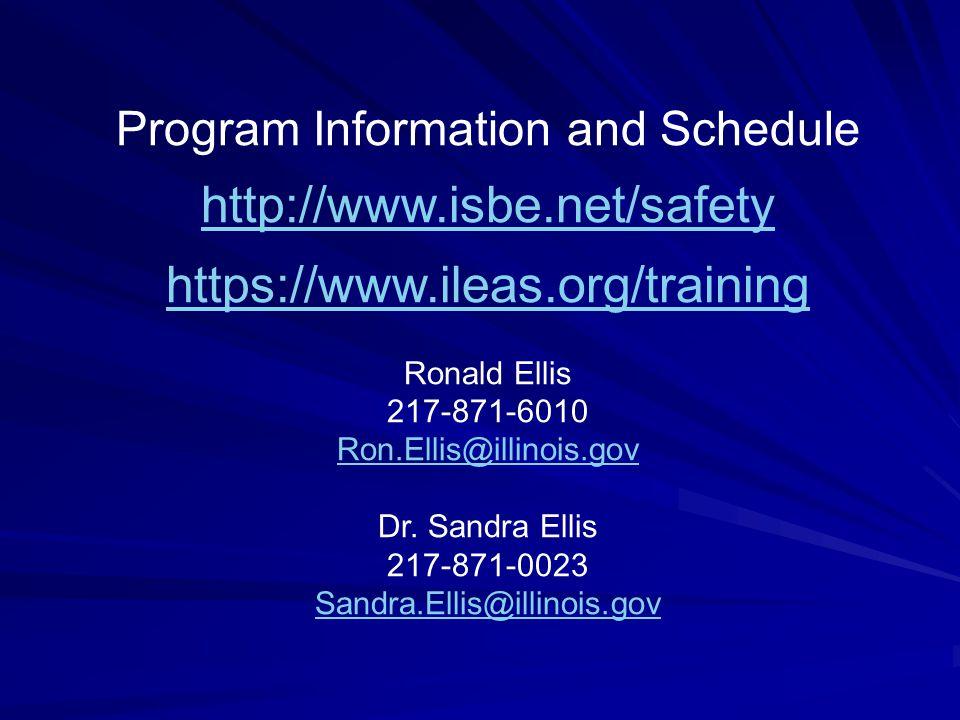 Program Information and Schedule