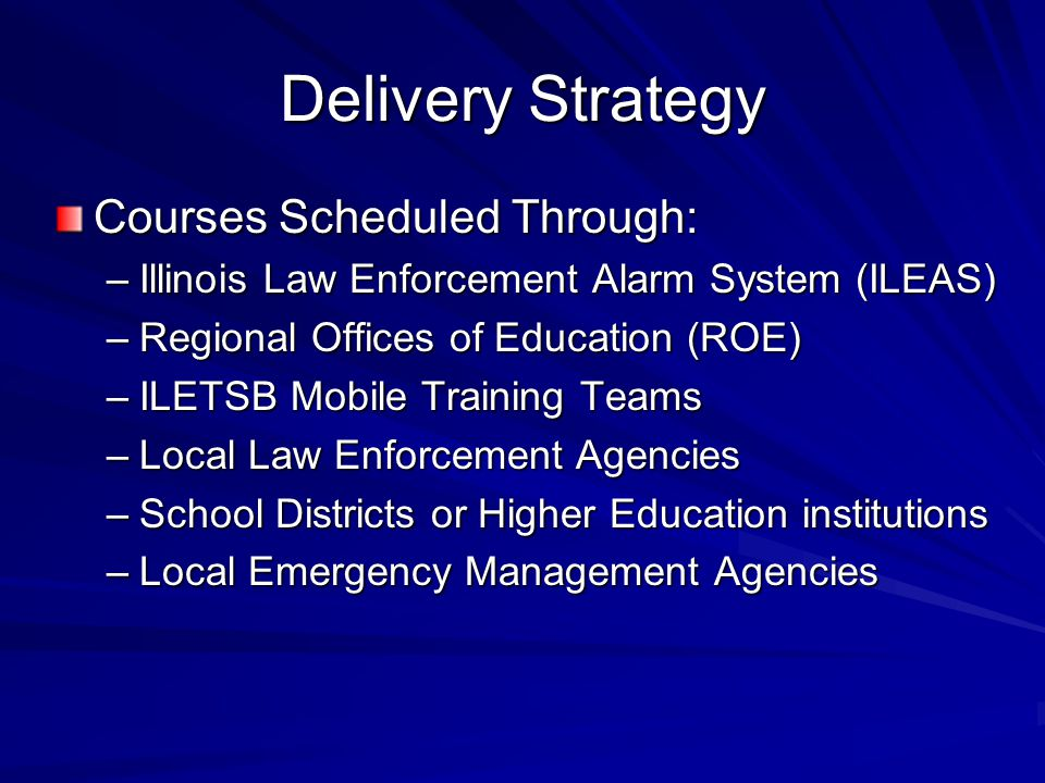 Delivery Strategy Courses Scheduled Through: