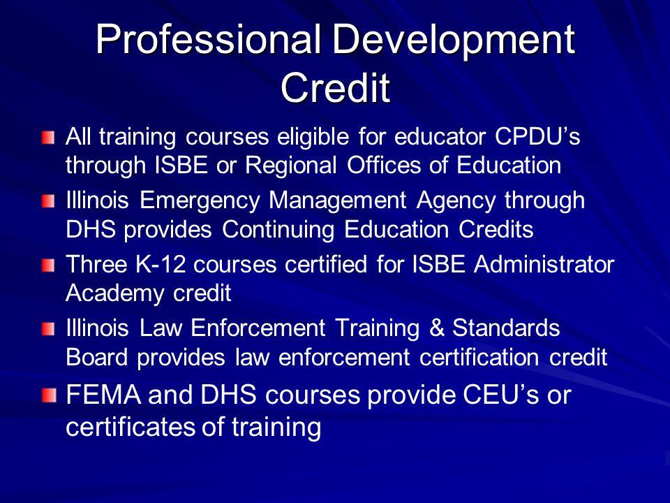 Professional Development Credit
