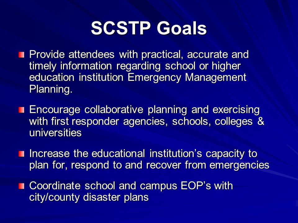 SCSTP Goals