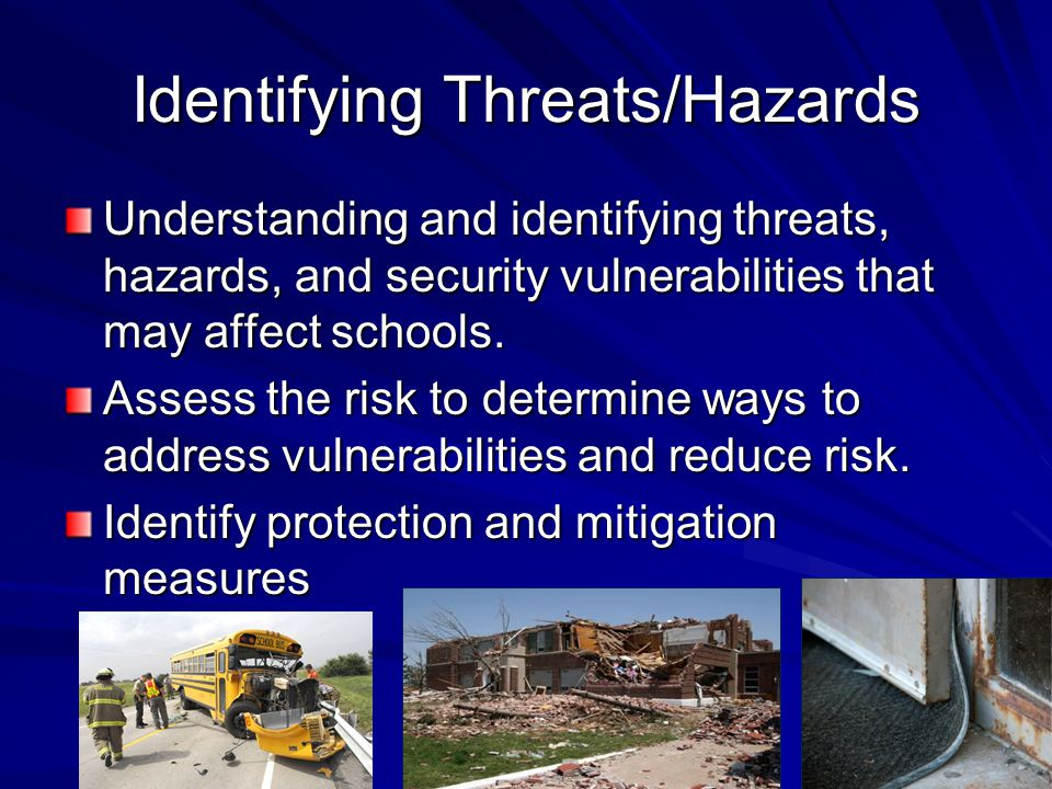 Identifying Threats/Hazards