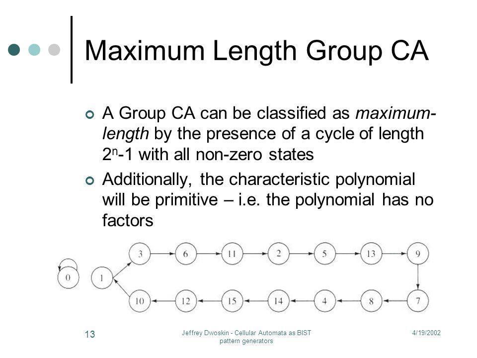 Maximum Length Group CA