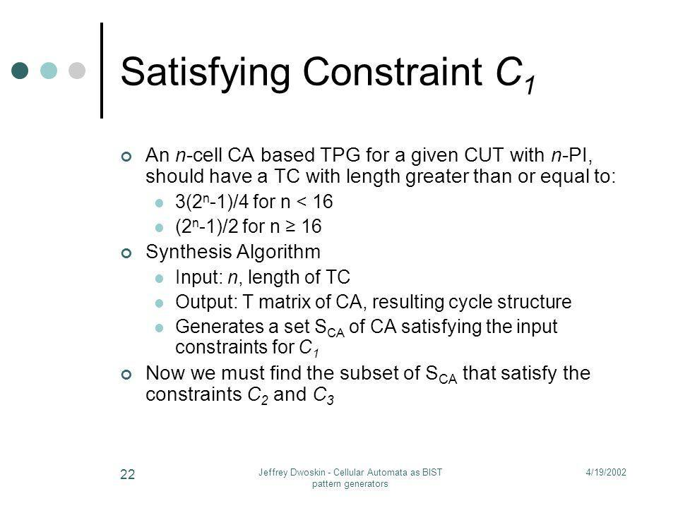 Satisfying Constraint C1