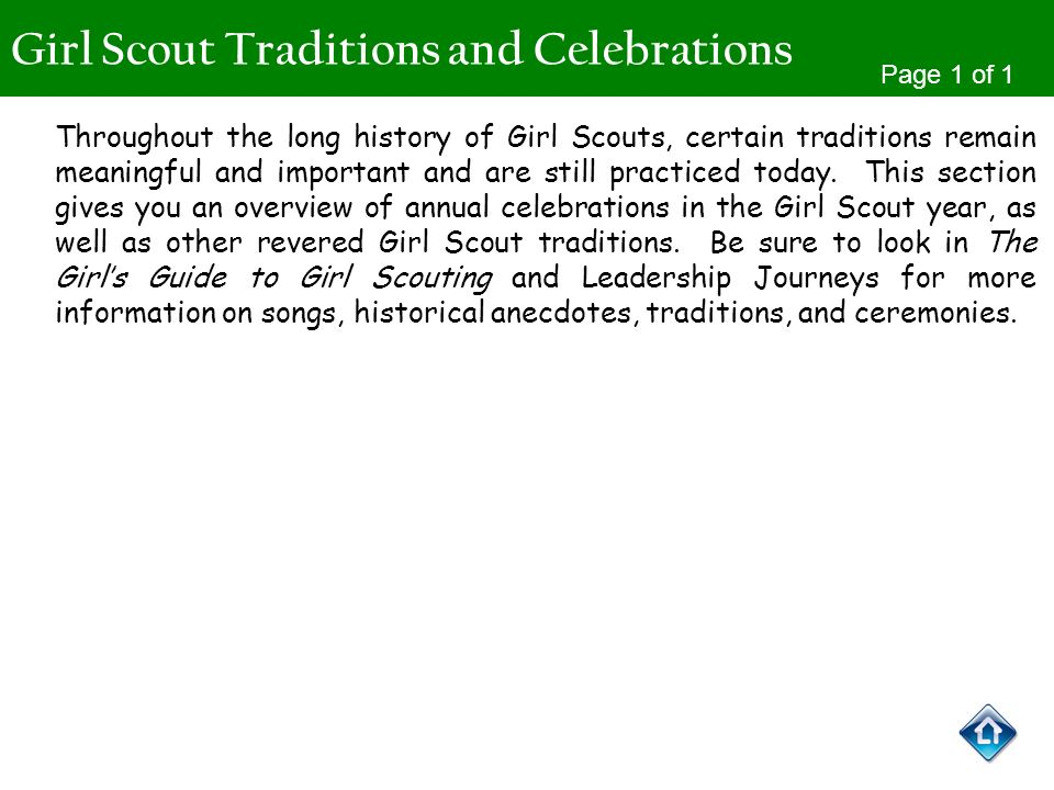 Girl Scout Traditions and Celebrations