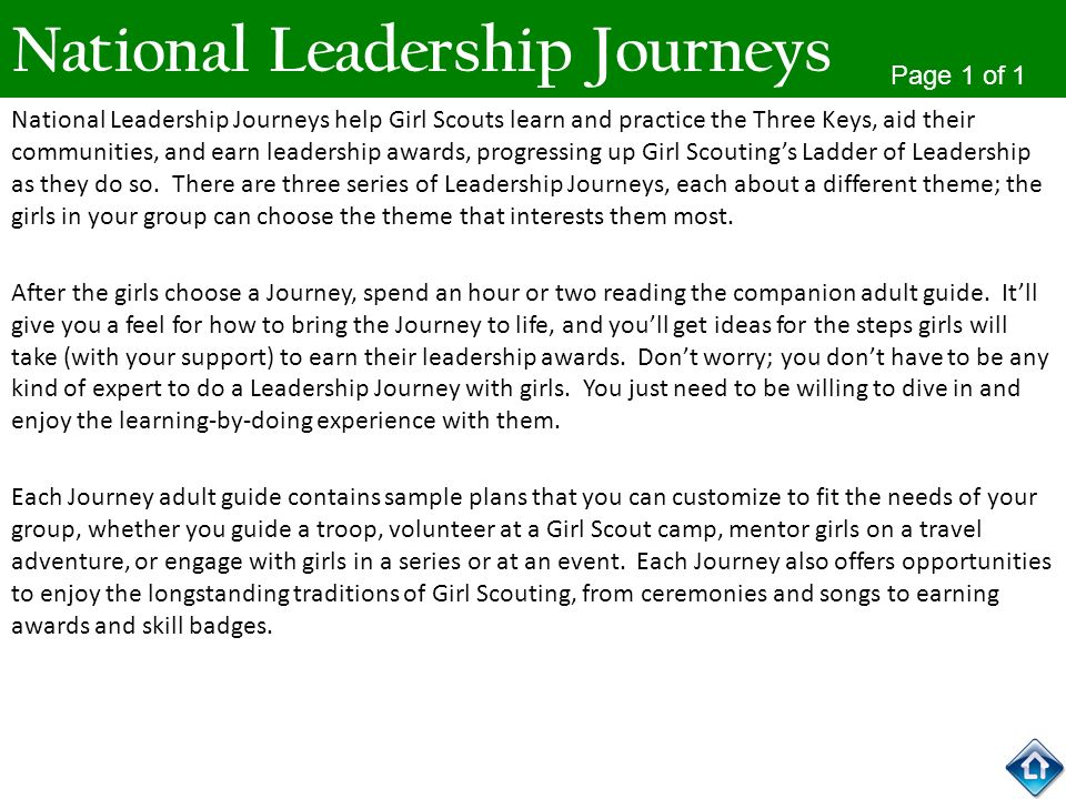 National Leadership Journeys