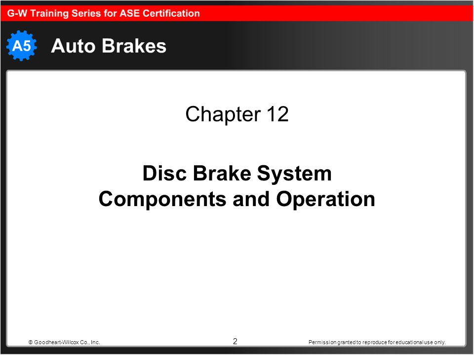Disc Brake System Components and Operation