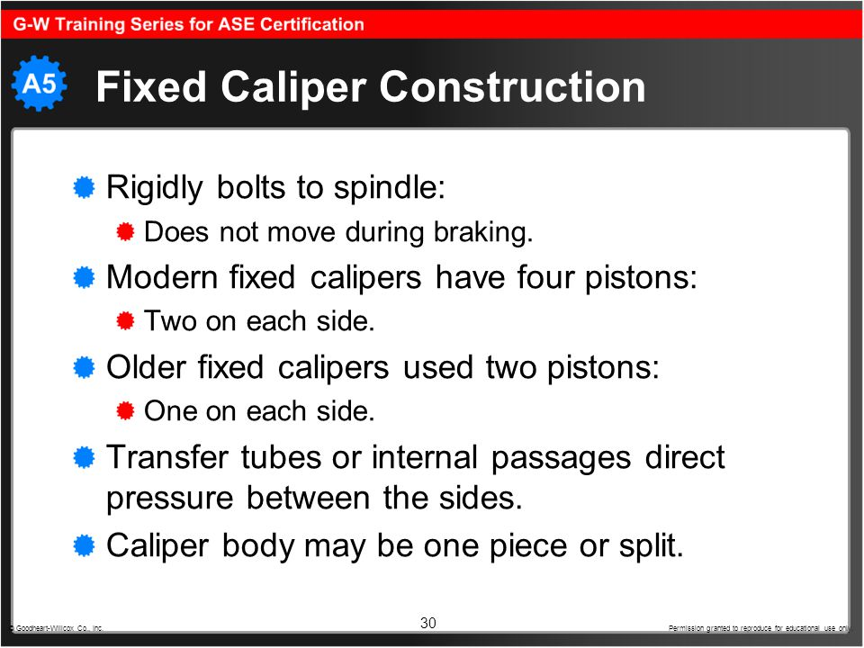 Fixed Caliper Construction