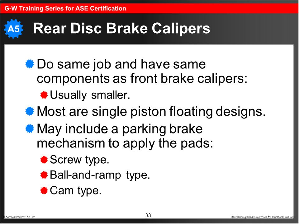 Rear Disc Brake Calipers