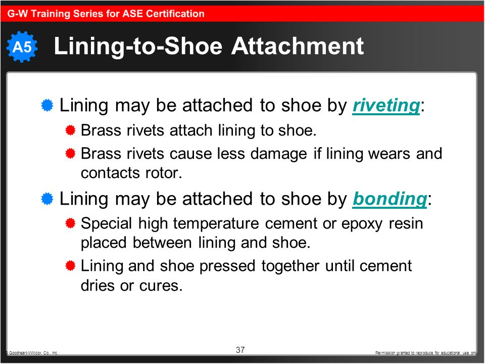 Lining-to-Shoe Attachment