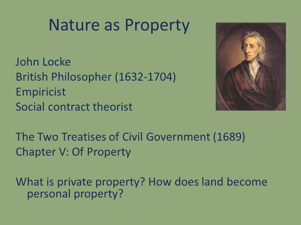 Nature as Property