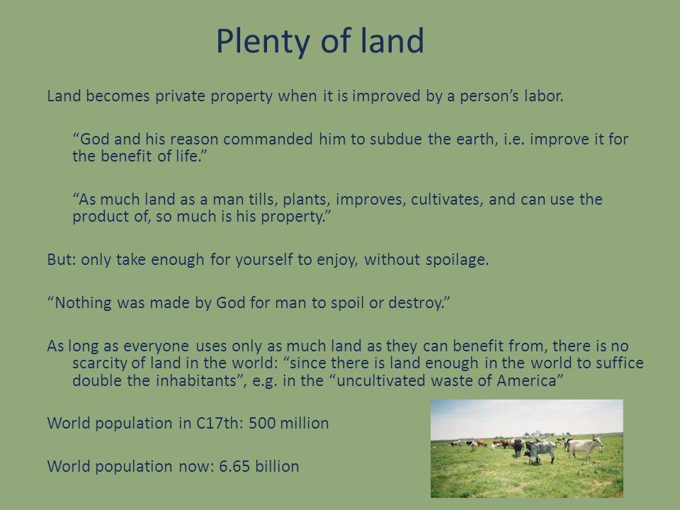 Plenty of land