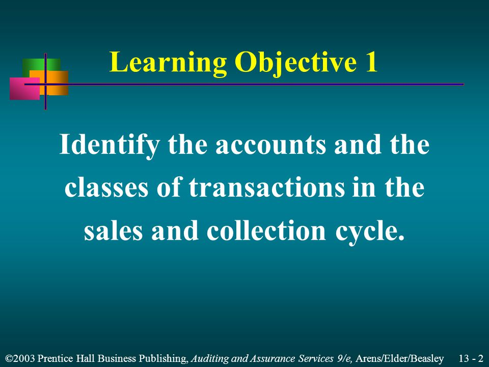 Identify the accounts and the classes of transactions in the