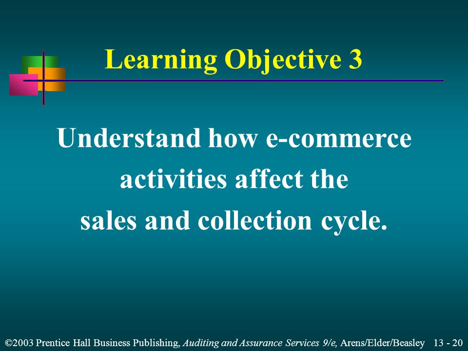 Understand how e-commerce sales and collection cycle.