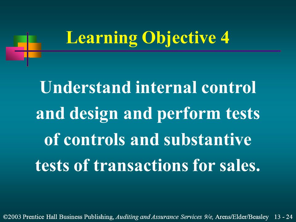 Understand internal control and design and perform tests