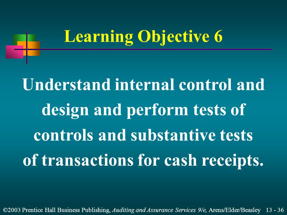 Understand internal control and design and perform tests of