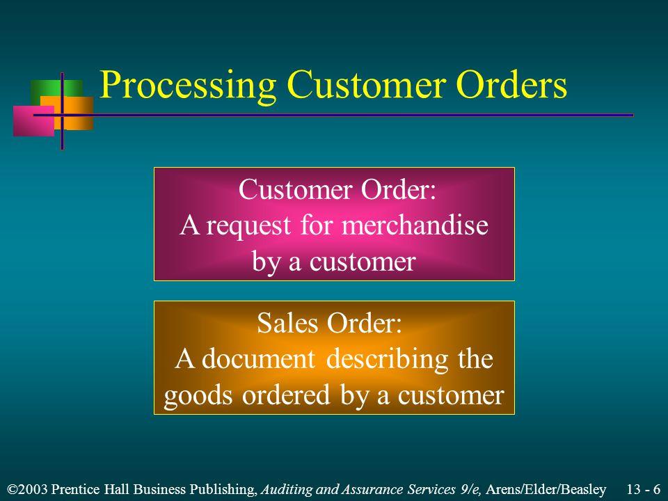 Processing Customer Orders