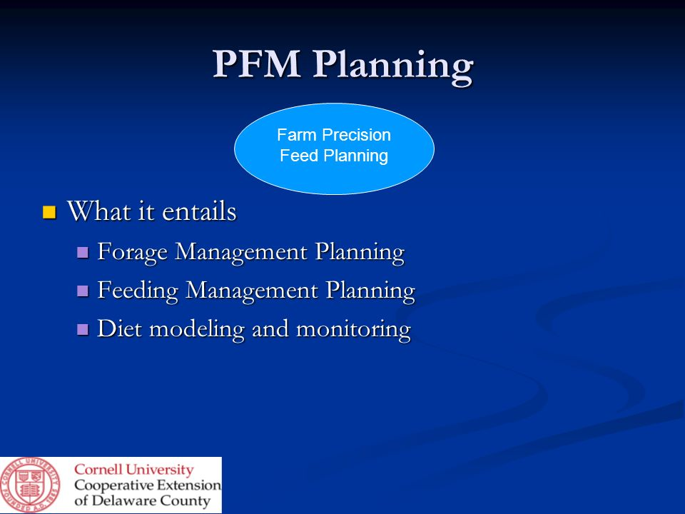 Farm Precision Feed Planning