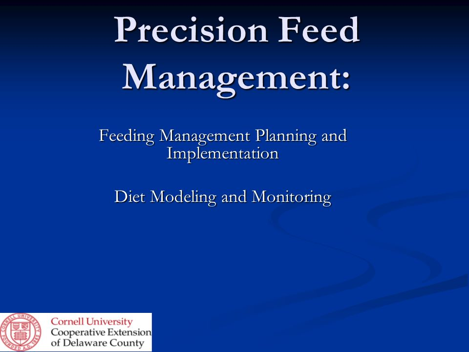 Precision Feed Management: