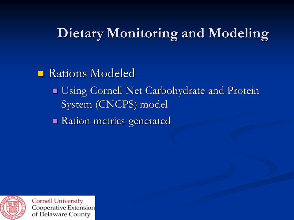 Dietary Monitoring and Modeling