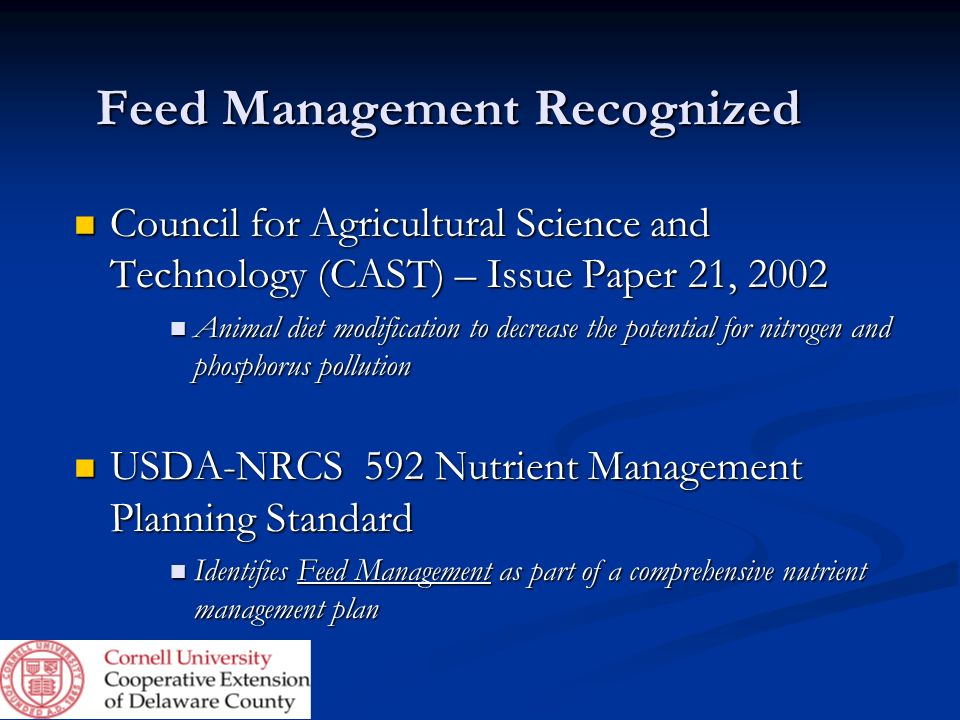 Feed Management Recognized
