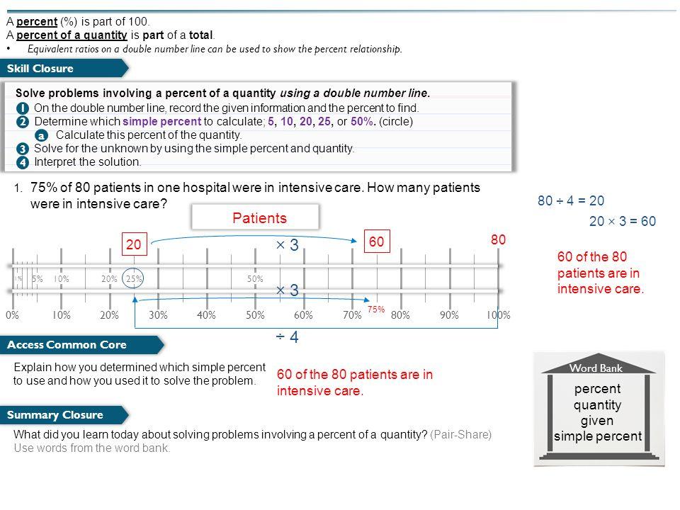 percent quantity given simple percent