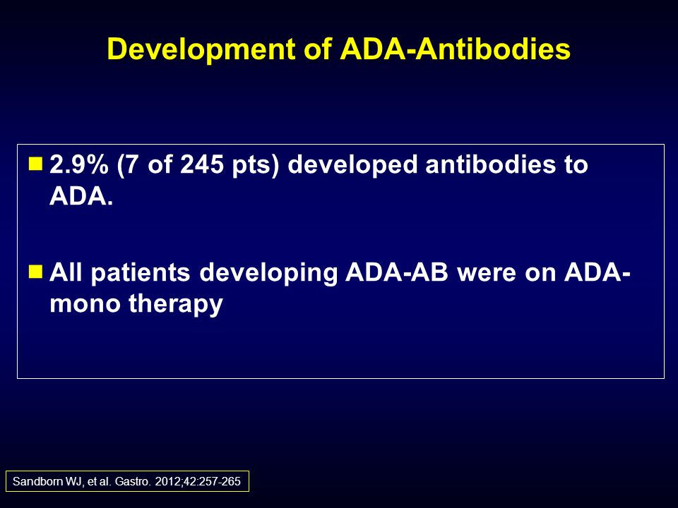Development of ADA-Antibodies